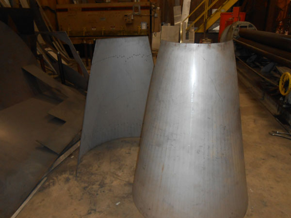 Stainless Steel Cone , Shop Fabrication