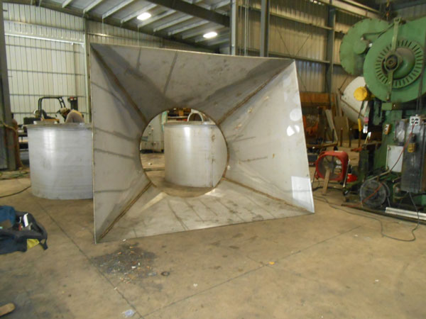 Stainless Steel Square to Round, Shop Fabrication